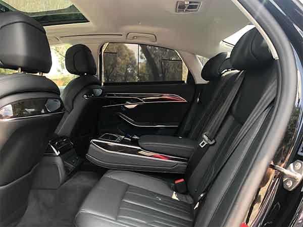 Audi A8 Backseat